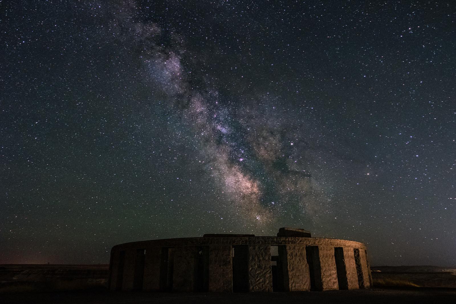 Maryhill Stonehenge at night